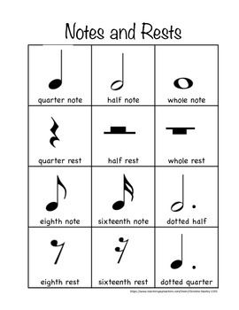 Music ♪ Notes ♪ and ♪ Rests ♪ $FREE Handout | Music theory ...