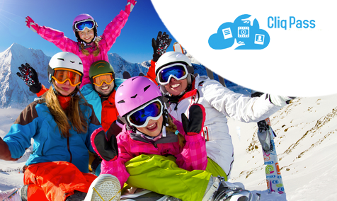 Everyone on the family ski trip wants to exchange photos, but just can't text them all at once... With the CliqPass app and your smartphone, sharing multiple group photos or big videos instantly with friends and family is a piece of cake. No one needs to be a tech guru to use CliqPass.
