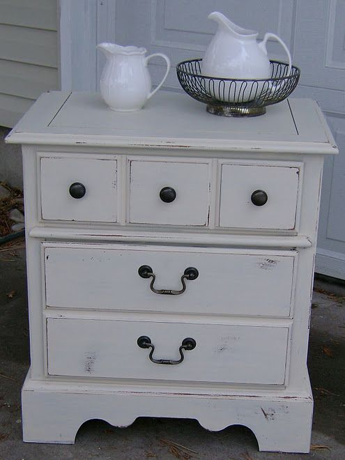 What A Cute Night Stand Furniture Vintage Farm Home Decor