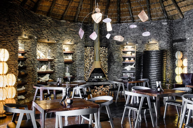 Restaurant at Singita Boulders in South Africa designed by Boyd Ferguson #southafrica #south #africa #design