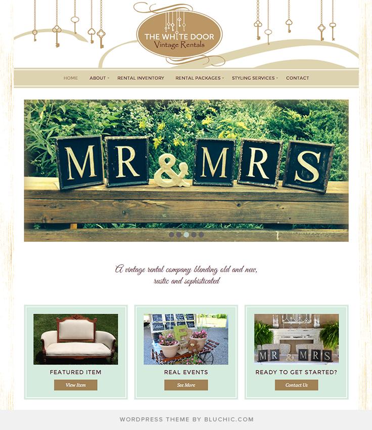 Website design for vintage rentals. Using Geraldine WordPress Theme ...