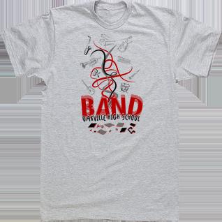 Band T-shirts High School Tees Custom Tshirts Notes Trumpet ...