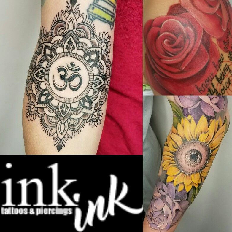 Ink ink tattoos and piercings floral tattoos and mandala for Tattoo parlors in springfield mo