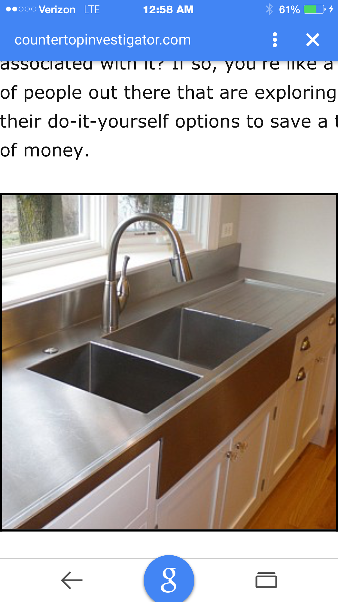 Stainless steel sink and counter kitchen cabinets pinterest image detail for to 7 popular countertop materials home improvement diy network solutioingenieria Gallery