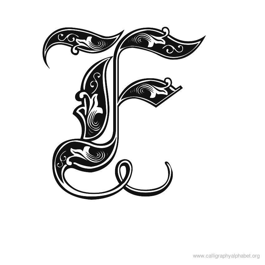 33+ Fancy monogram letter f trends