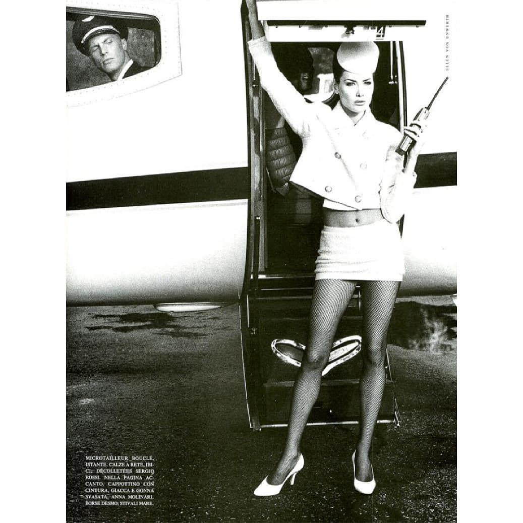 "VOGUEITALIA October 1994 Fashion Airline Photographer #EllenvonUnwerth @EllenvonUnwerth Styling #AliceGentilucci @AliceGentilucci Hair…"""