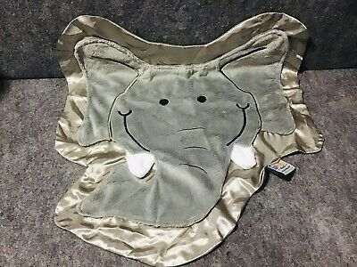 Details about Rumble the Happy Elephant Gray Happy Blankie Baby Security Blanket (Small) HTF #securityblankets