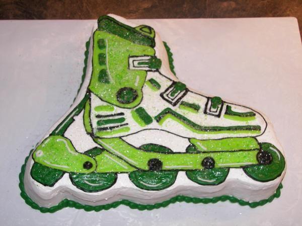 Rollerblade Cake Packer Skate Party Rollerblade Boy Birthday