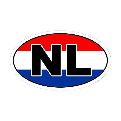 Cafepress dutch the netherlands nl flag oval sticker oval bumper sticker euro oval car decal