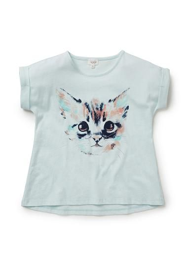 Girls Tops Tees & Tanks   Kitten Short Sleeve Tee   Seed Heritage