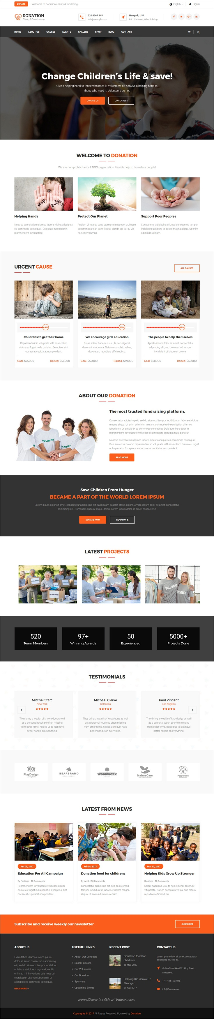 Donation is clean and modern design responsive #HTML template for ...