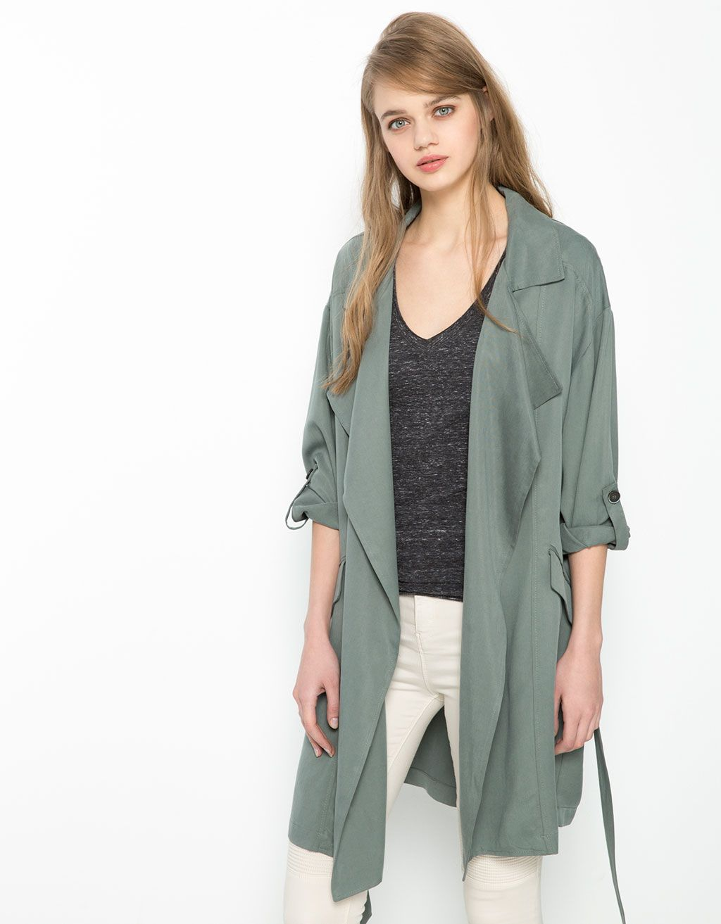 3526fd9068 Tencel trench coat in 2019 | Spring Style | Coat, Jackets, Fashion