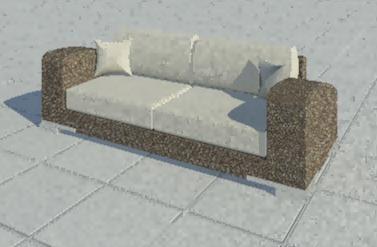 Double Sofa | Revit models | Sofa, Home Decor, Furniture