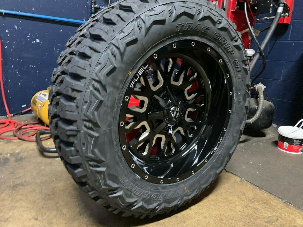 20x10 Fuel D611 Stroke 35 Mt Wheel And Tire Package 5x5 Jeep
