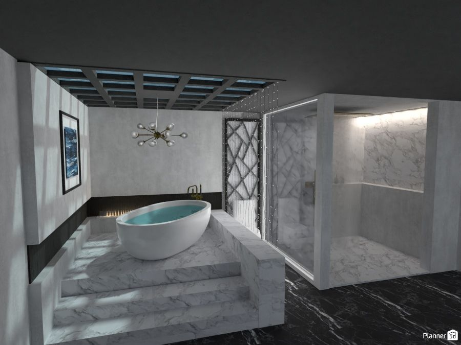 White And Black Color Bathroom Interior Planner 5d Casas