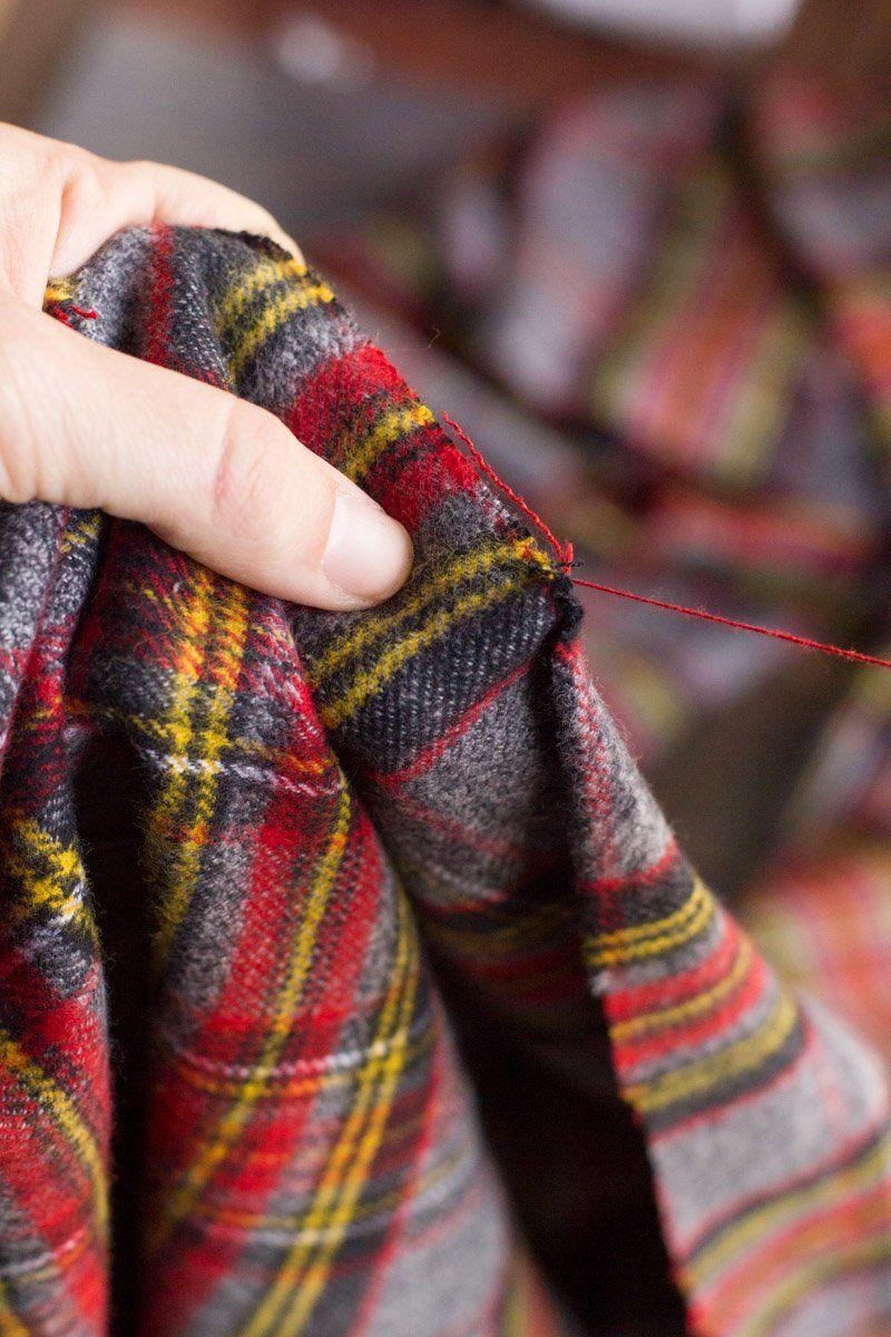 Diy no sew flannel blanket scarf flannel scarf diy diy