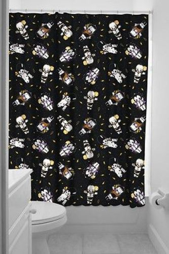 Sourpuss Kewpie Monsters Punk Goth Shower Curtain Bath Punk Goth