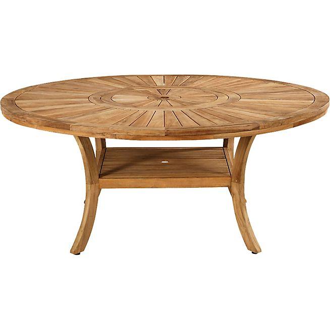 Komodo Table de jardin en teck avec plateau tournant (10 à ...