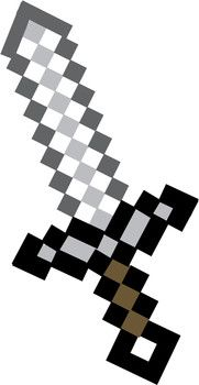Impeccable image throughout printable minecraft sword