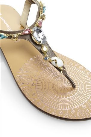0837f74aa Iridescent Jewel Sandals Jeweled Sandals