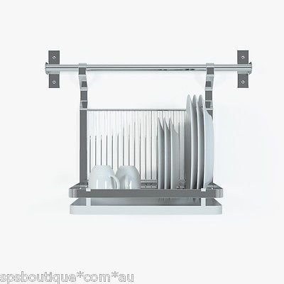 Details about ikea dish drainer rack tray drying 59cm rail for Kitchen drying rack ikea