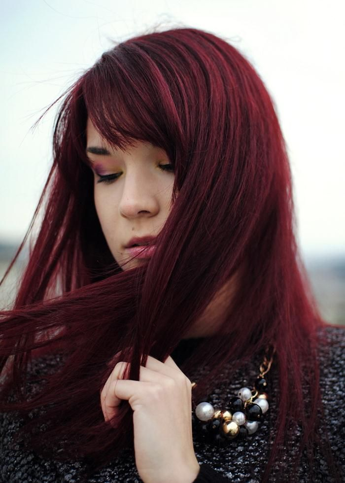 Dark Cherry Red Hair Color Hairstyles To Try Pinterest Cherry