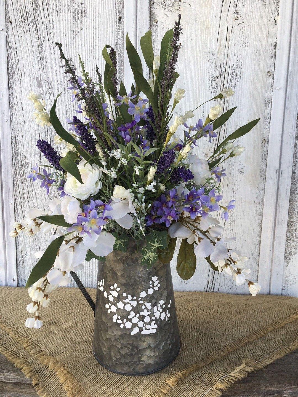 farmhouse silk flower arrangements