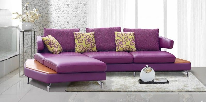 14 Astounding Purple Leather Couches Picture Ideas Warwickema Com Modern Sofa Sectional Modern Leather Sectional Modern Sectional