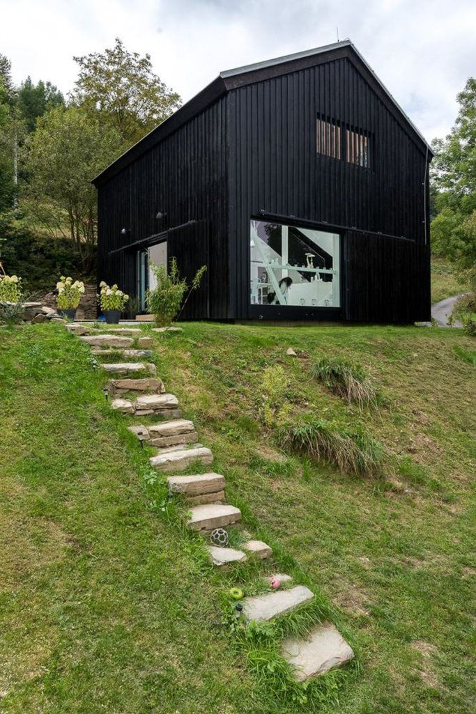 a small heritage barn was converted into a residence with a scandinavian aesthetic www. Black Bedroom Furniture Sets. Home Design Ideas