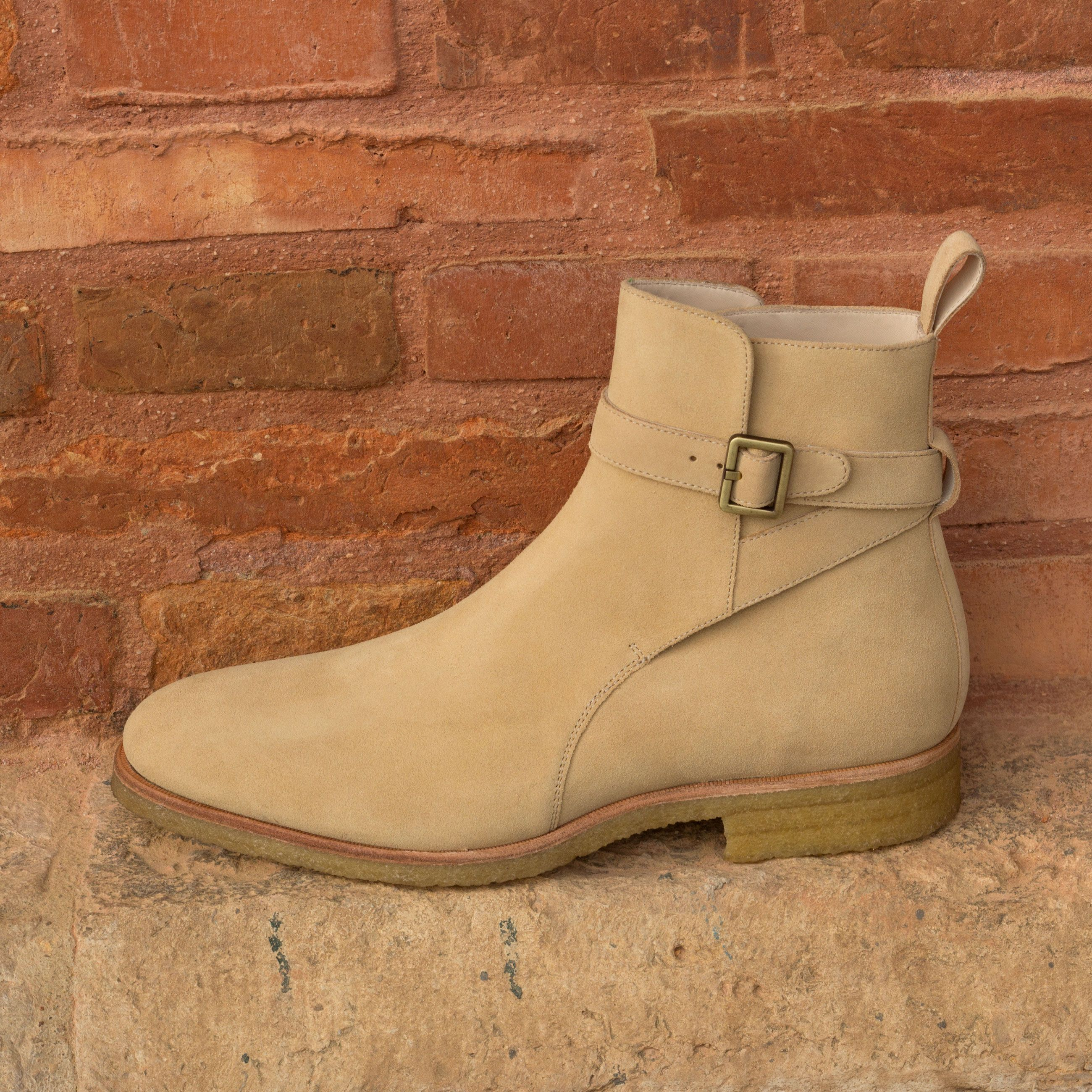 Custom Made Jodhpur Boot in Sand Luxe Suede  Robert August Apparel is part of Handcrafted boots - Handcrafted Custom Made Jodhpur Boot in Sand Luxe Suede From Robert August  Create your own custom designed shoes shoes shoesoftheday dapper menswear mensfashion luxurylifestyle success hot style bespoke luxury