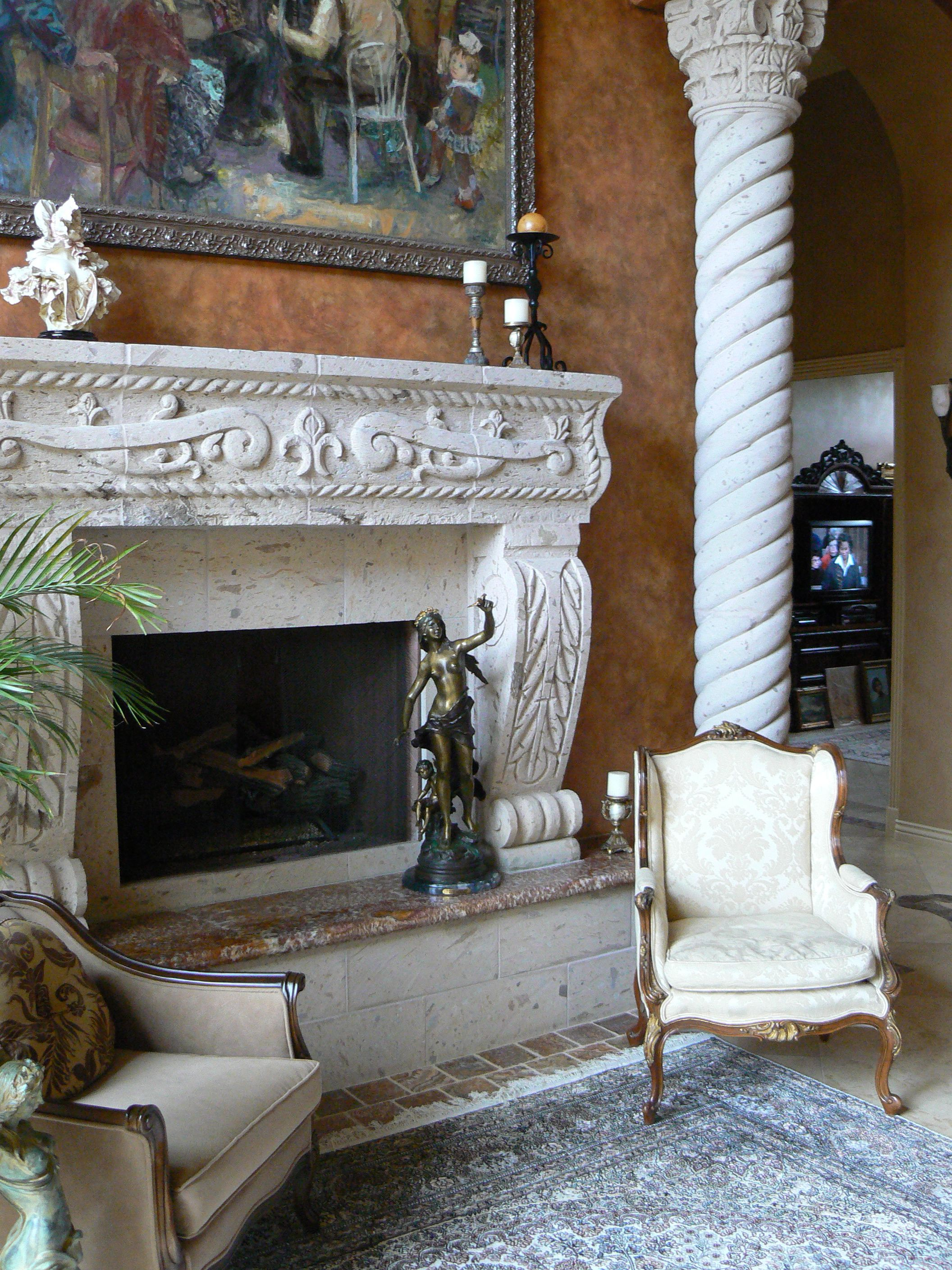 Charmant A Cantera Fireplace And Column