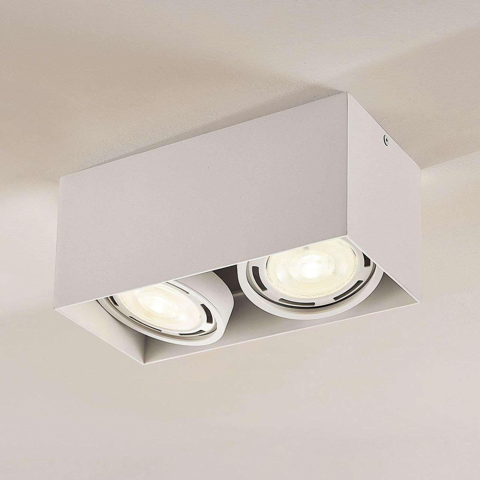 Led Downlight Rosalie Dimbaar Hoekig 2 Lamps Wit Led Verlichting Binnenverlichting