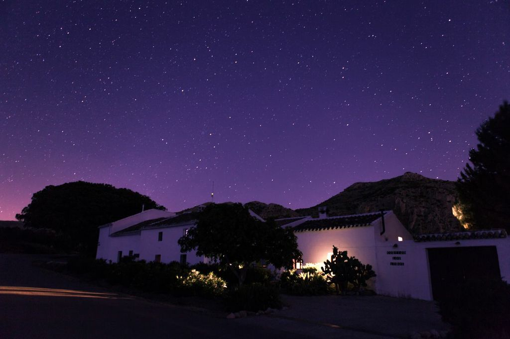 the cortijo at night