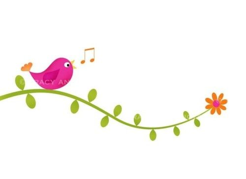 cute birds clip art clip art bird on vines for commercial and rh pinterest co uk vine clip art images venus clip art