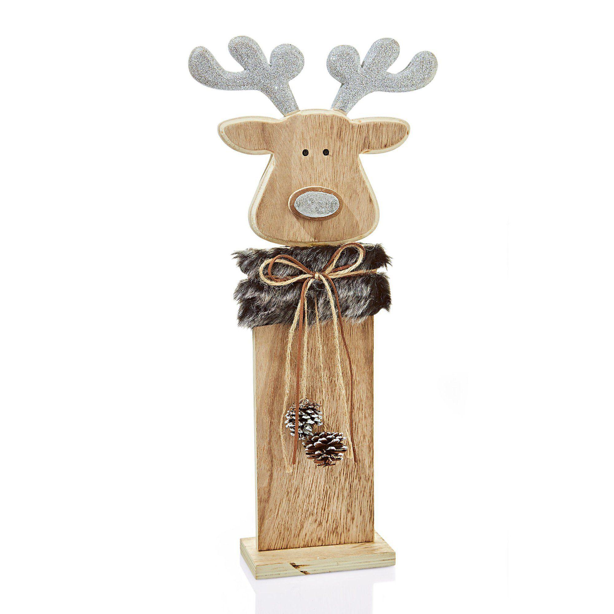 Weihnachtsdeko Bei Weltbild.Deko Objekt Elch Tjure Natur Grau Wood Projects Christmas