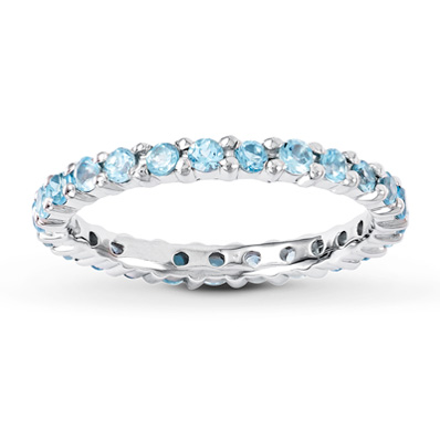 8c1bee610 Stackable Ring Blue Topaz Sterling Silver | Blue topaz, Topaz and ...