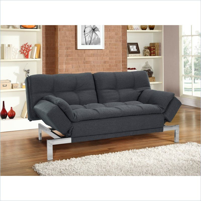 Lowest Price Online On All Lifestyle Solutions Serta Boca Convertible Sofa In Charcoal Tweed Sabocs3u4cc