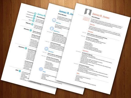cv modele indesign