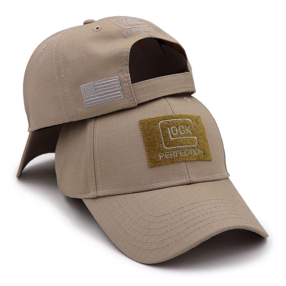 New 2019 Tactical GLOCK Shooting Sports Baseball Cap Fishing Caps Men  Outdoor Hunting Jungle Hat Airsoft b913217a3399