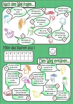 Nach dem Weg fragen | Alemão | Pinterest | German, Deutsch and ...