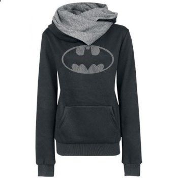 Chic Hooded Long Sleeves Pocket Design Printed Women's Hoodie (BLACK,XL) in Sweatshirts & Hoodies | DressLily.com