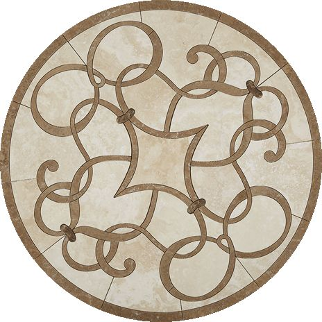 waterjet collection s medallions stone oval cln medallion marble floor ebay x polished on tile