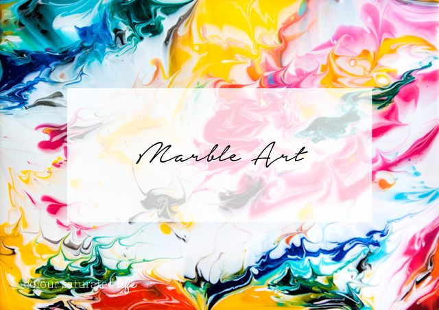 Marble Art by Colour Saturated Life | Hand Made by Carmona     I bet the boys would like to do this.