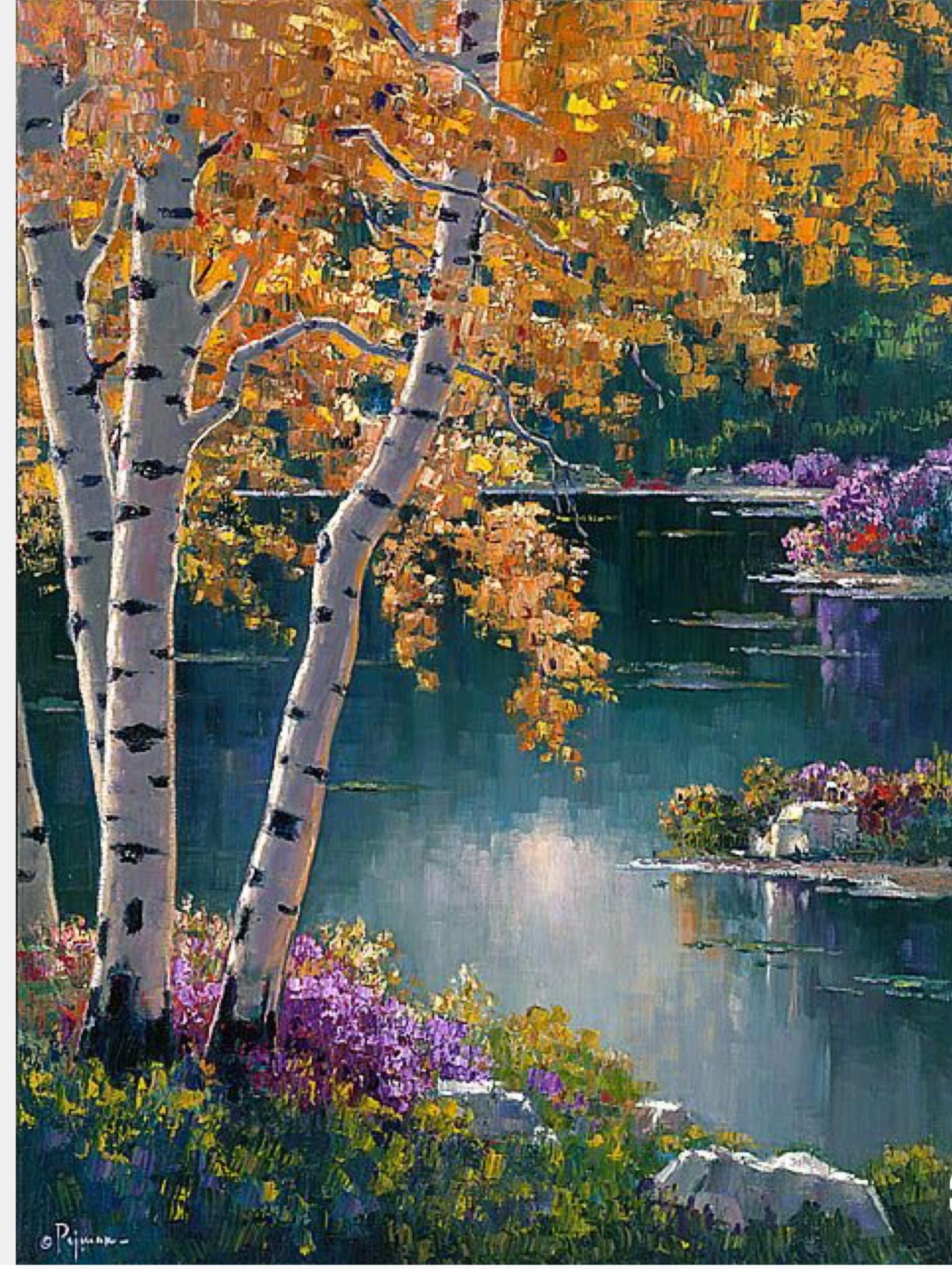 Sedona Aspens by Bob Pejman Landscape paintings