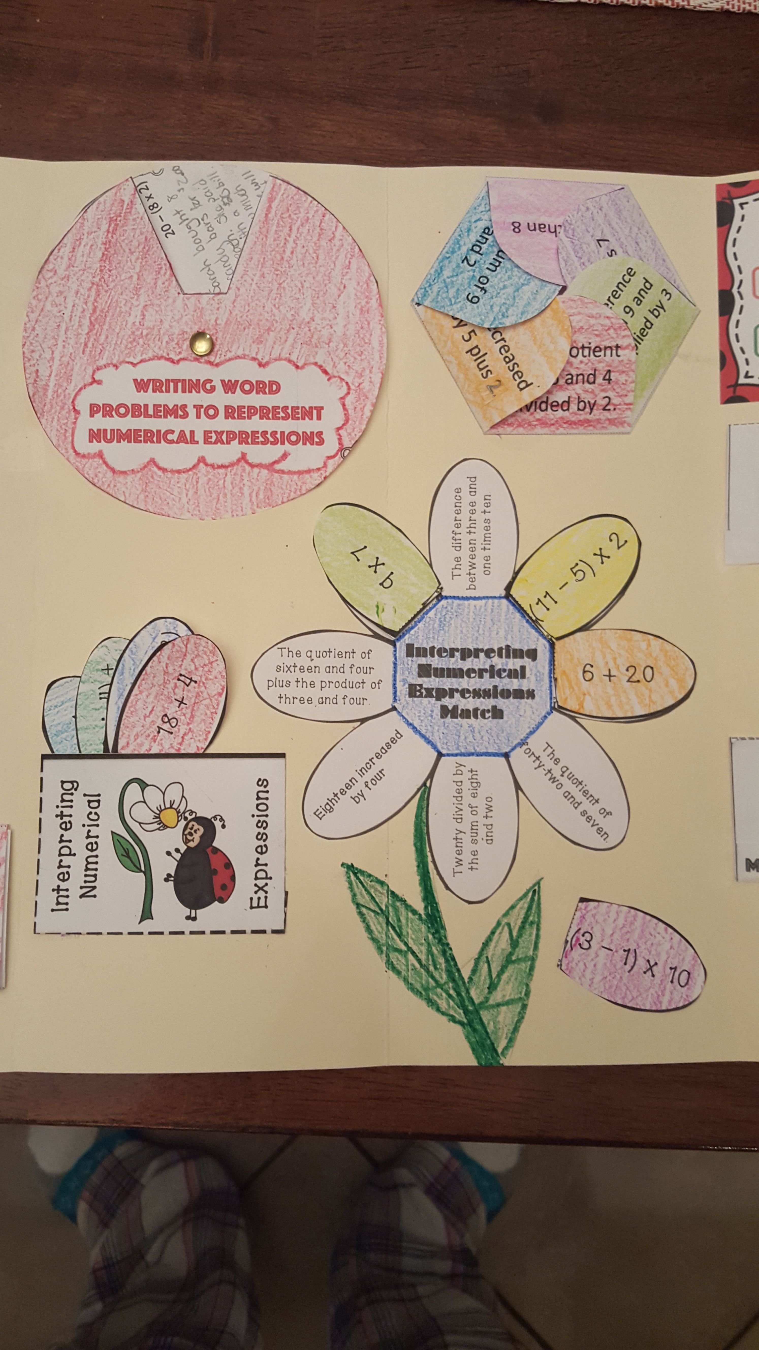 Interpreting And Evaluating Expressions Lapbook With
