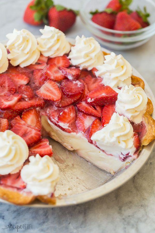 Strawberry Cream Cheese Pie recipe {VIDEO} - The Recipe Rebel
