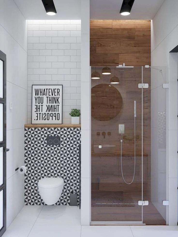 If You Have A Super Small Bathroom Trying To Make Everything Fit In The Available Space Is Like Small Bathroom Makeover Modern Bathroom Design Small Bathroom