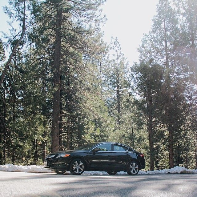2014 Acura ILX Black Sedan Exterior Side View Snow Call: 1