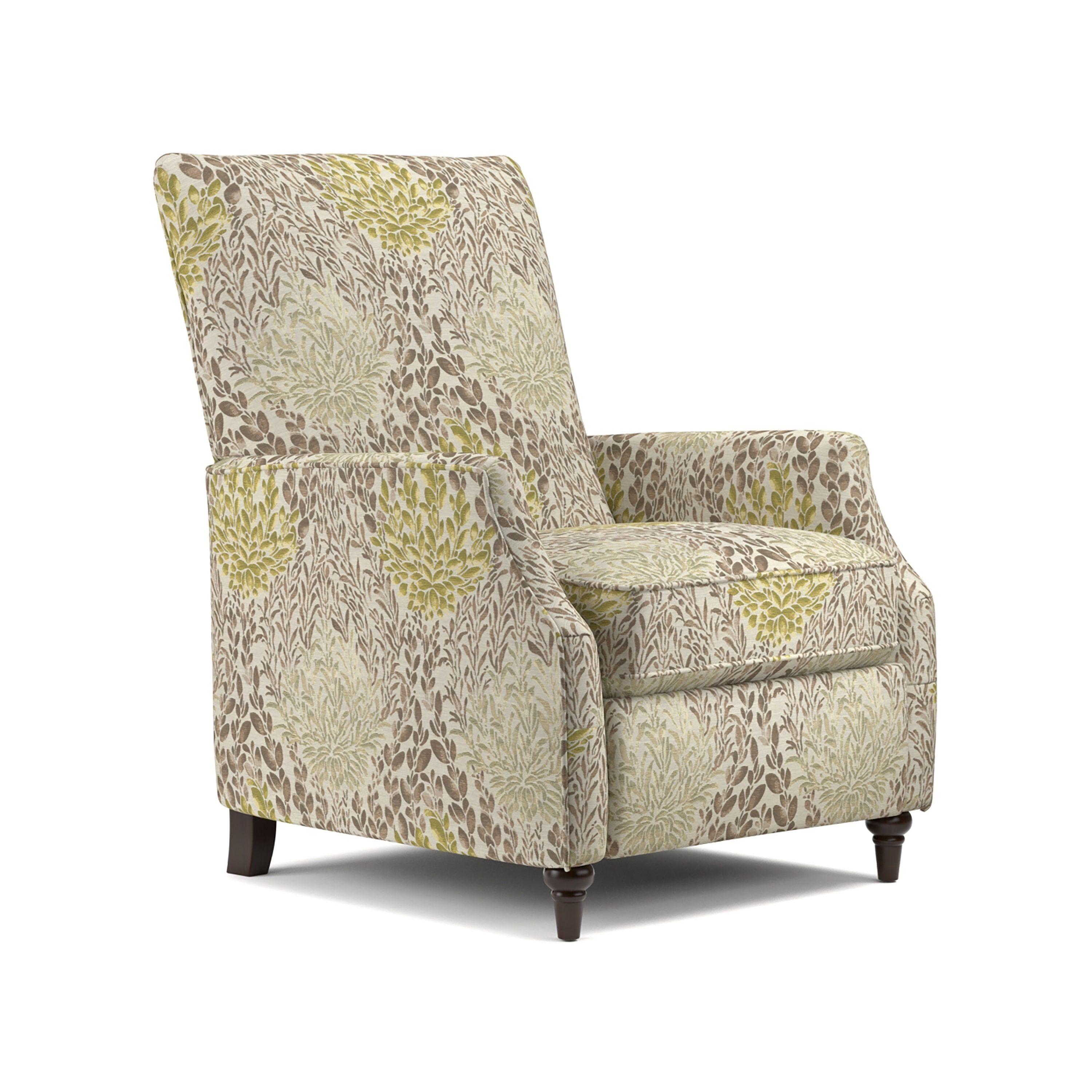prolounger yellow multi floral push back recliner chair (yellow