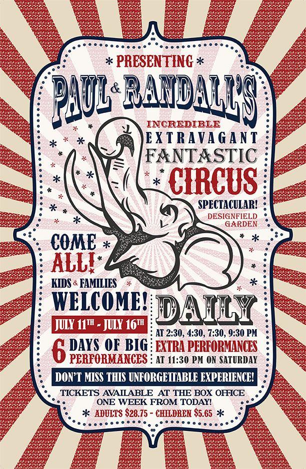 Vintage carnival posters